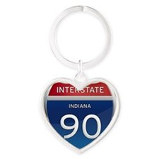 Indiana Interstate 90 Keychains