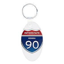 Indiana Interstate 90 Keychains
