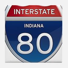 Indiana Interstate 80 Tile Coaster