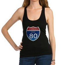 Indiana Interstate 80 Racerback Tank Top