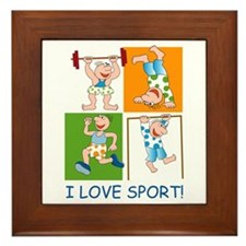 I Love Sport Framed Tile
