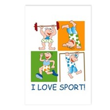 I Love Sport Postcards (Package of 8)