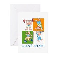 I Love Sport Greeting Cards (Pk of 10)
