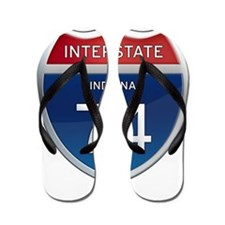 Indiana Interstate 74 Flip Flops