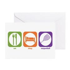 Eat Sleep Racquetball Greeting Cards (Pk of 10