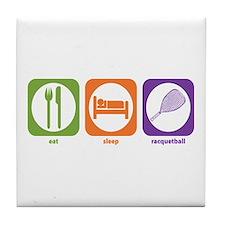 Eat Sleep Racquetball Tile Coaster