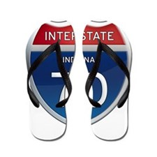 Indiana Interstate 70 Flip Flops