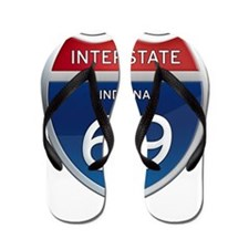 Indiana Interstate 69 Flip Flops