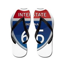Indiana Interstate 65 Flip Flops