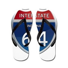 Indiana Interstate 64 Flip Flops