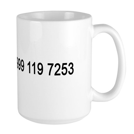 IT Crowd Emergency Services Large Mug