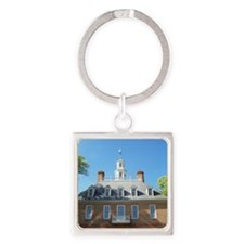 GOVERNORS PALACE COLONIAL WILLIAMS Square Keychain