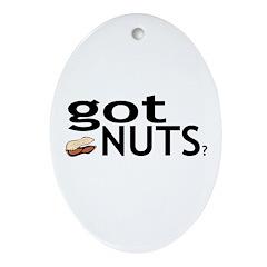 Got Nuts? Oval Ornament