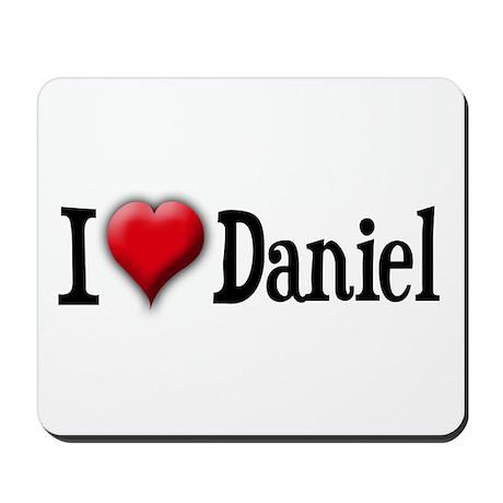 I Love (heart) Daniel Mousepad