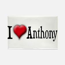 I Love (Heart) Anthony Rectangle Magnet
