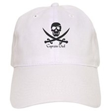 Baseball Captain Dad Jolly Roger Pirate Crossbones and Swor