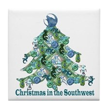 Christmas in the Southwest Tile Coaster