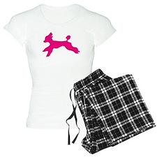 Beautiful Standard Poodle Running - Pink Pajamas