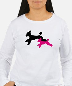 Beautiful Standard Poodles Running - Long Slee