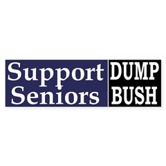 Support Seniors: Dump Bush (Sticker)