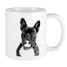 Ruby Eyed French Bulldog Portait Mugs