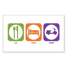 Eat Sleep Scoot Rectangle Decal
