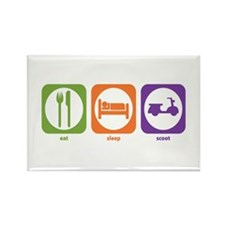 Eat Sleep Scoot Rectangle Magnet
