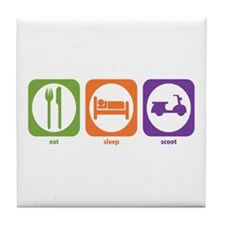 Eat Sleep Scoot Tile Coaster