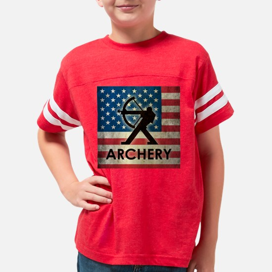 Grunge Archery Youth Football Shirt