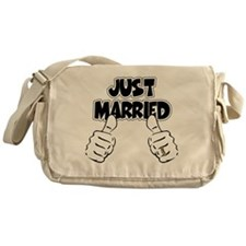 Just Married Thumbs Up Messenger Bag