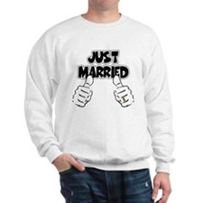 Just Married Thumbs Up Sweatshirt