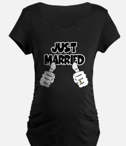 Just Married Thumbs Up T-Shirt