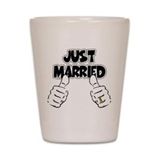 Just Married Thumbs Up Shot Glass