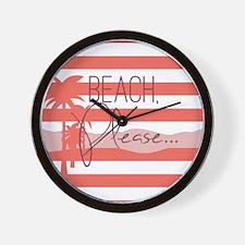 Beach, Please... Wall Clock
