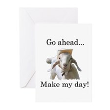 The goat says, Make my day Greeting Cards (Package