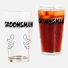Groomsman Thumbs Up Drinking Glass