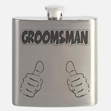 Groomsman Thumbs Up Flask