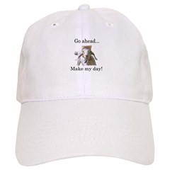 The goat says, Make my day Baseball Cap