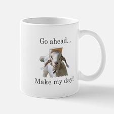 The goat says, Make my day Mug