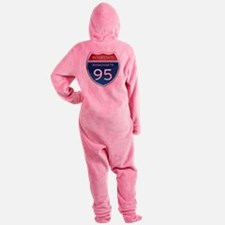 Massachusetts Interstate 95 Footed Pajamas