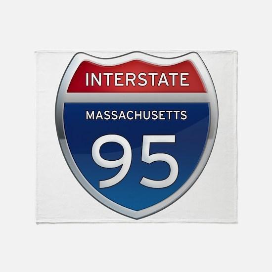 Massachusetts Interstate 95 Throw Blanket