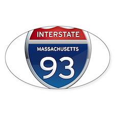 Massachusetts Interstate 93 Decal