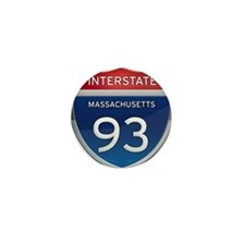 Massachusetts Interstate 93 Mini Button