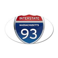 Massachusetts Interstate 93 Wall Decal