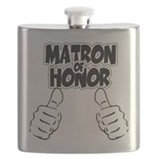 Matron of Honor Thumbs Up Flask