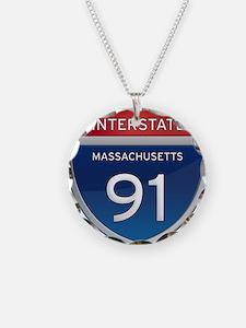Massachusetts Interstate 91 Necklace