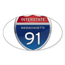 Massachusetts Interstate 91 Decal