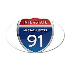 Massachusetts Interstate 91 Wall Decal