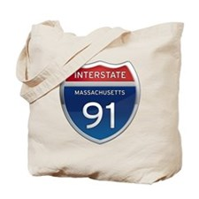 Massachusetts Interstate 91 Tote Bag