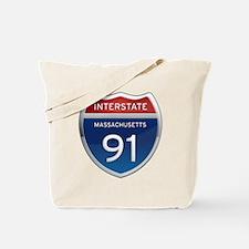 Massachusetts Interstate 91 Tote Bag
